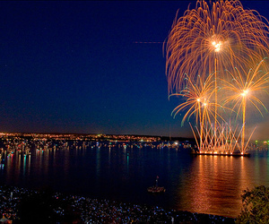 fireworks, lights, and night image