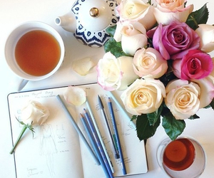 girly, style, and flowers image