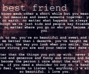 sweet letter to a best friend on we heart it