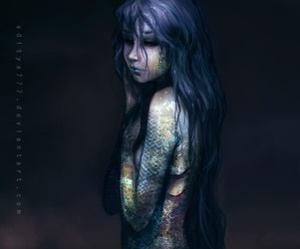 mermaid, fantasy, and art image