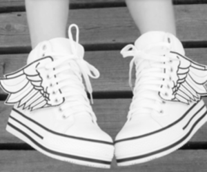 shoes, converse, and wings image