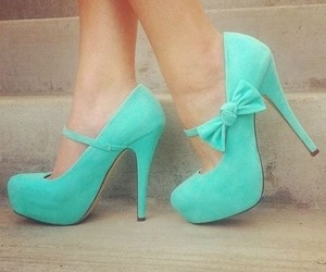 heels, shoes, and turquoise image