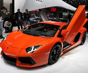 car, Lamborghini, and orange image