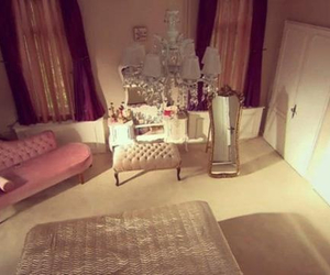 bedroom, chair, and girly image