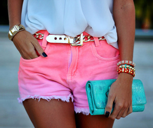 fashion, pink, and shorts image