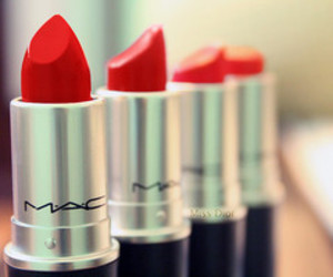 red, mac, and lipstick image