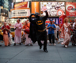 dancing, hare krishna, and batman image