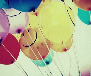 balloons, smile, and colors image