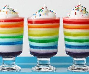 rainbow, food, and sweet image