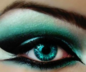 eyes, makeup, and turquoise image