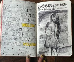 wreck this journal, art, and coldplay image