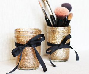 diy, glitter, and make up image