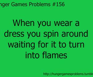 flames, dress, and katniss everdeen image