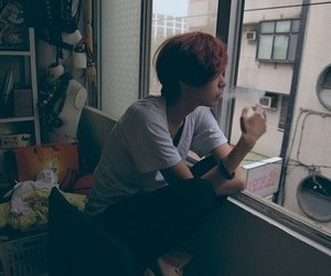 boy, smoking, and smoke image