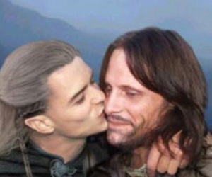 kiss, cute, and orlando bloom image