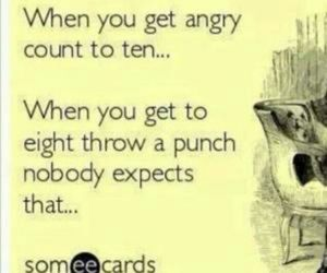 punch, quote, and anger image