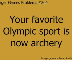 archery, Jennifer Lawrence, and hunger games image