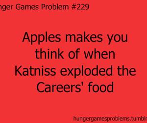 apples, Jennifer Lawrence, and hunger games image