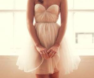 dress, evening, and girl image