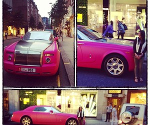 girl, pink, and car image