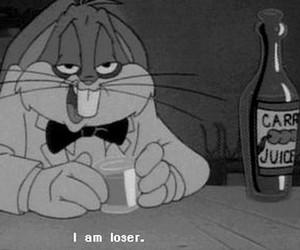 loser, bugs bunny, and sad image