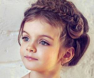 girl, baby, and hair image