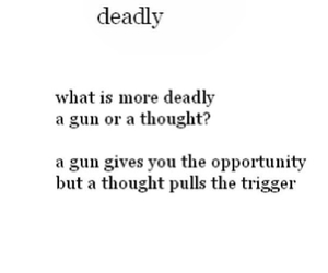 thoughts, gun, and deadly image
