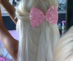 pink and blonde image