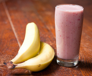 banana, healthy, and smoothie image
