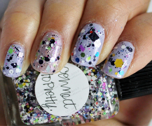 beautiful, glitter, and hands image