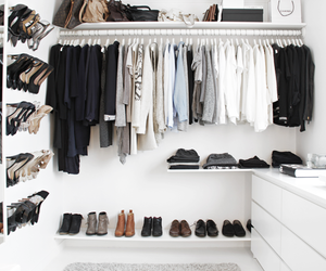 closet, clothes, and decoration image