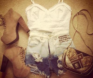 bag, white, and boots image