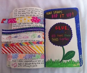 flower, keri smith, and wreck this journal image