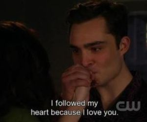 love, gossip girl, and chuck bass image