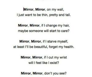 anorexic, depression, and mirror image