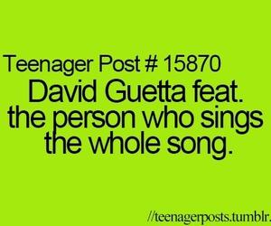 david guetta, teenager post, and funny image