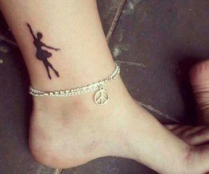 ballerina, ballet, and tattoo image