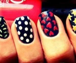 nails, stars, and black image