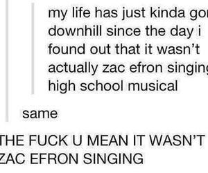 zac efron, funny, and HSM image