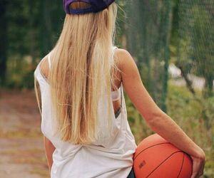 girl, Basketball, and blonde image