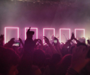 concert, the 1975, and pink image