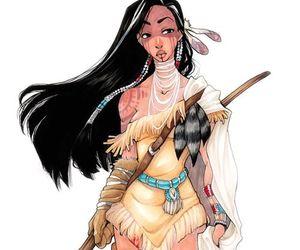 princess, pocahontas, and warrior disney image