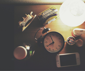 10, alarm clock, and bed image