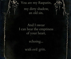 evil, gothic, and poem image