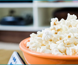 food, popcorn, and remote control image