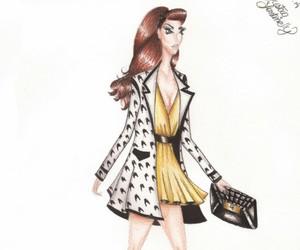 drawing, illustrator, and fashiondesign image