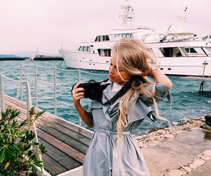 girl, sea, and blonde image