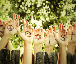 hands, coexist, and photography image