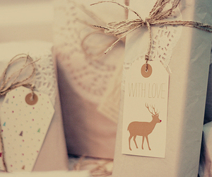 gift, christmas, and deer image