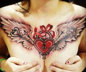 chest tattoo and tattoo image